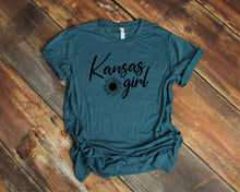 Load image into Gallery viewer, Kansas Girl Sunflower T-Shirt