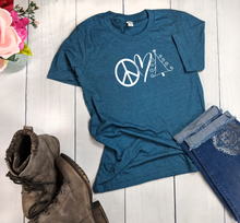 Load image into Gallery viewer, Peace Love Christmas T-Shirt