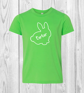 Kids Personalized Name Bunny Shirt