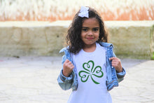 Load image into Gallery viewer, Childs Glitter Shamrock T-Shirt