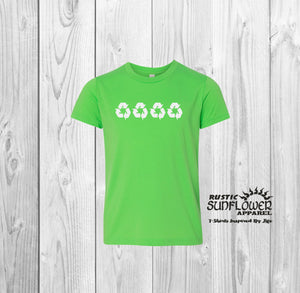 Youth Recycle Logo T-Shirt
