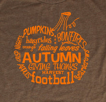 Load image into Gallery viewer, Fall Pumpkin Word Art T-Shirt
