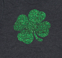 Load image into Gallery viewer, St. Patrick's Day Glitter Shamrock T-Shirt