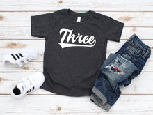 Load image into Gallery viewer, Sporty Third Birthday Toddler Shirt