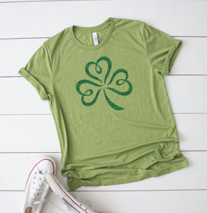 Green Glitter Shamrock T-Shirt