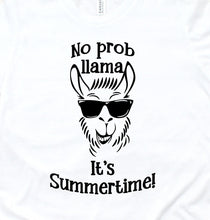 Load image into Gallery viewer, No Prob Llama It's Summertime Toddler T-Shirt