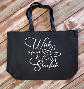 Wish Upon a Starfish Large Tote Bag