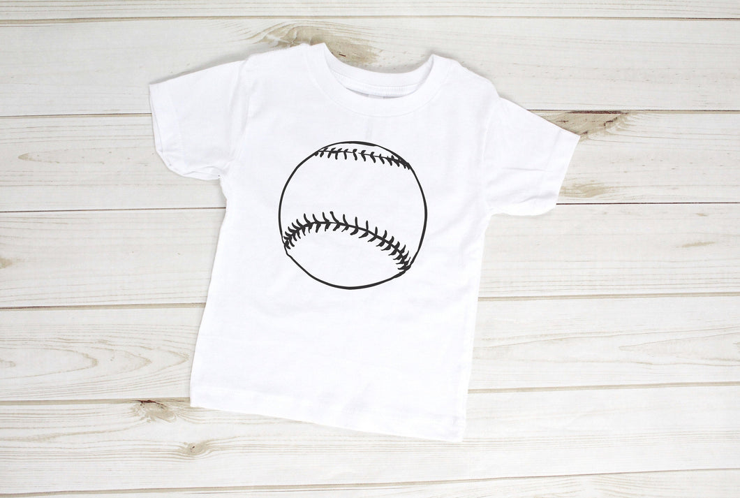 Rustic Baseball Toddler Shirt