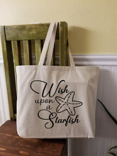 Load image into Gallery viewer, Wish Upon a Starfish Large Tote Bag