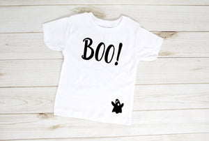 Boo with Ghost Halloween Toddler T-Shirt