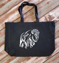 Load image into Gallery viewer, Bison Roam Large Canvas Tote Bag