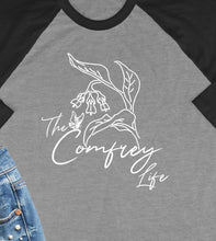 Load image into Gallery viewer, The Comfrey Life 3/4 Sleeve Raglan Style T-Shirt