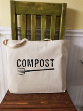 Load image into Gallery viewer, Compost Large Canvas Tote Bag