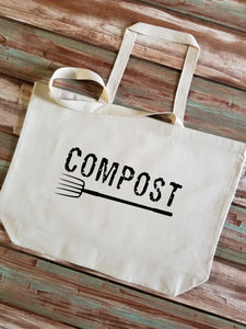 Compost Large Canvas Tote Bag