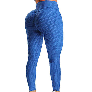 Womens Anti Cellulite Textured Leggings High Waist Sexy Yoga Pants