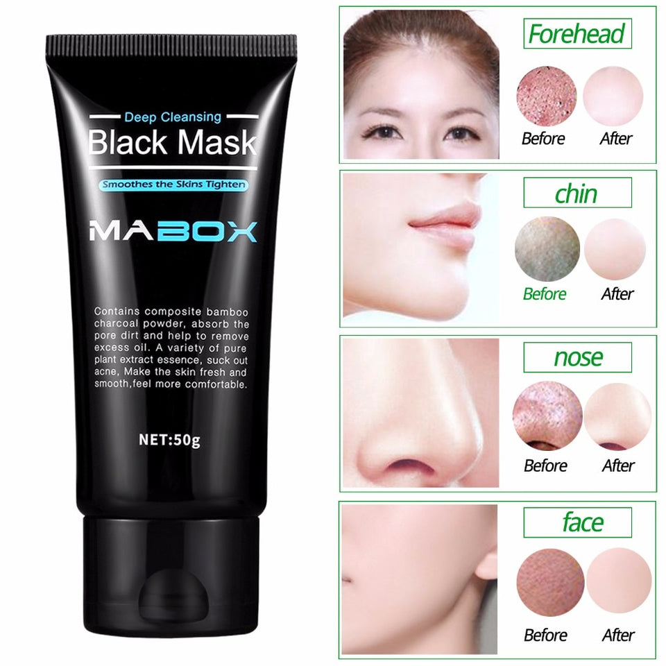Bamboo Charcoal Purifying Blackhead Remover Mask