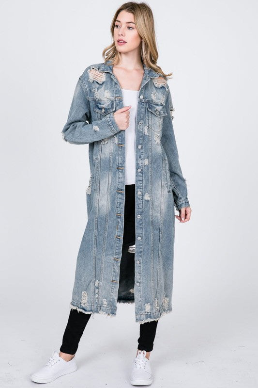 Denim Trench Jacket