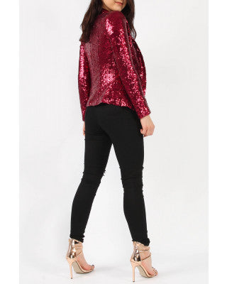 Shining Bright Sequins Blazer