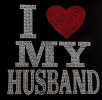 I Love Husband Bling Tee