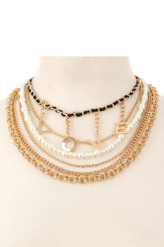 Love Chain Choker Necklace