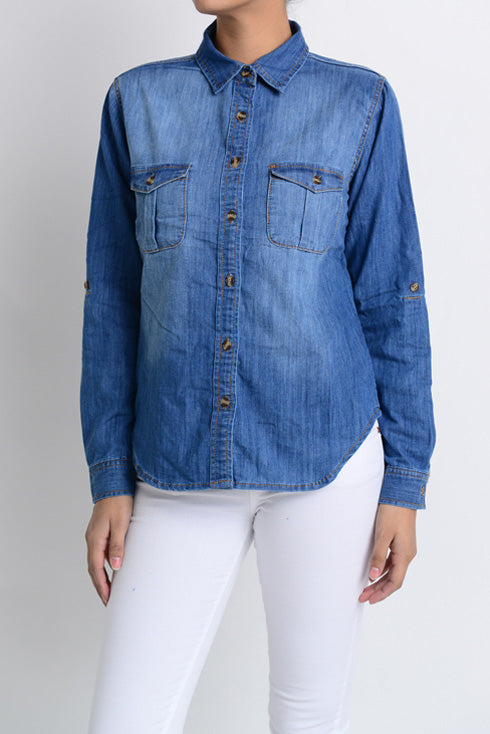 Denim Light Faded Top