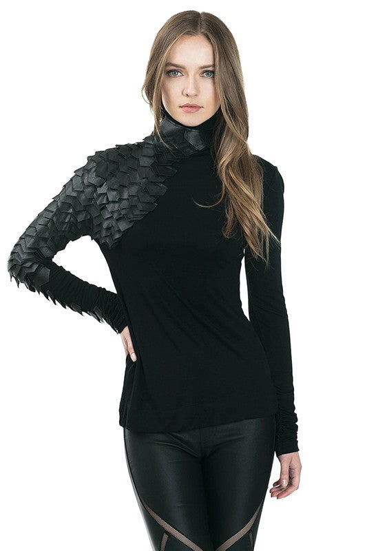 Reptile Sleeve Top (Black)