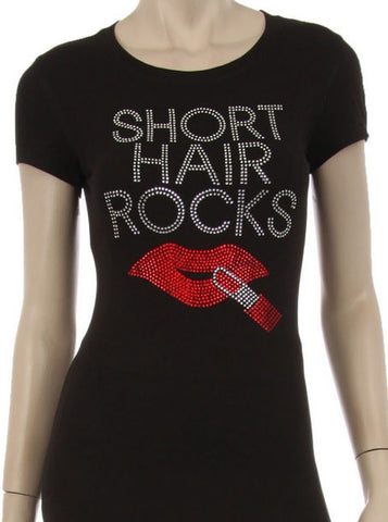 Short Hair Rocks Tee