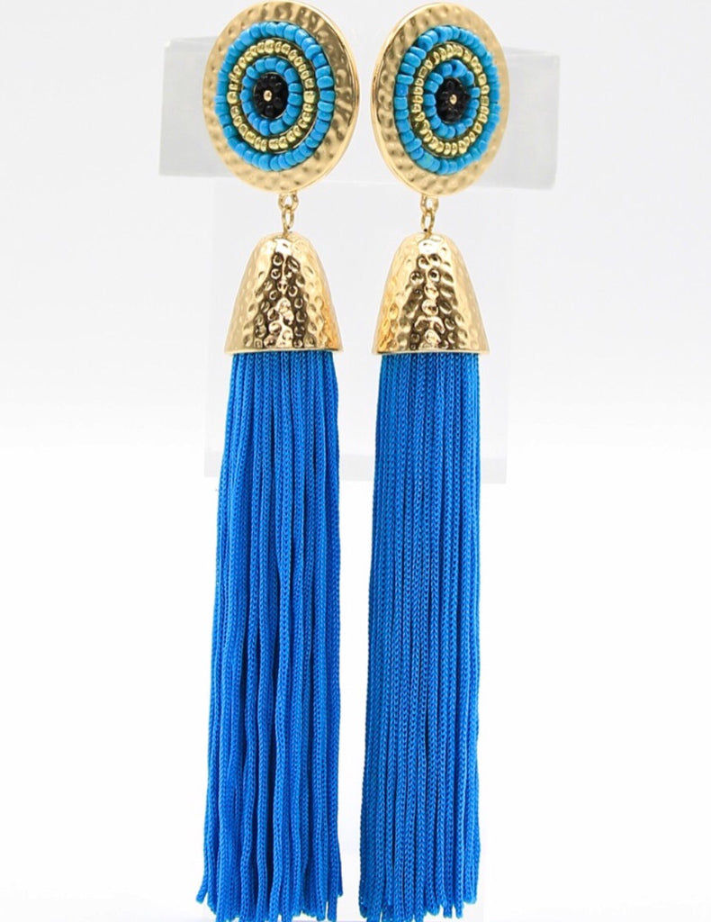 Tassel Earrings (Turquoise)