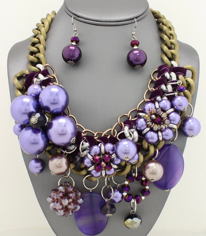 Purple Passion Necklace Set
