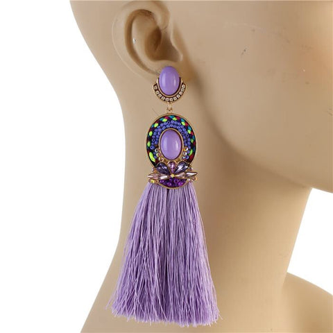 Godiva Tassel Earrings (Lavender)