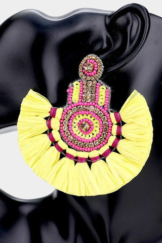 Cascade Fan Earrings (Yellow)