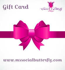 Social Butterfly Gift Card
