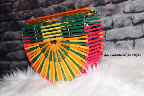 Multi Color Wood Clutch