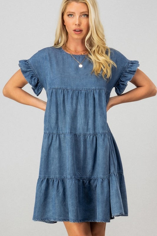 Baby Doll Ruffle Dress