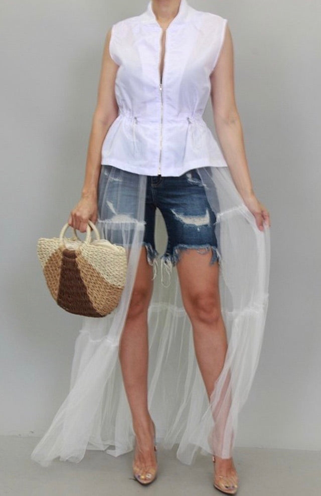 White Tulle Jacket