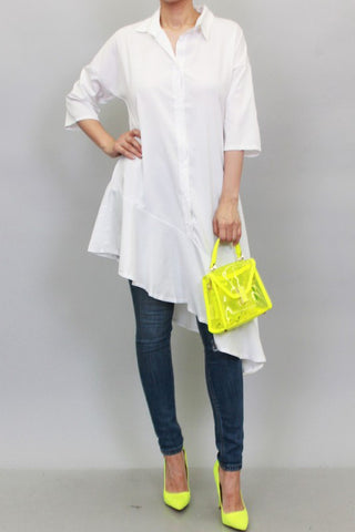 White Asymmetrical Top/Dress