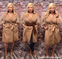World Stop Trench Coat/Dress