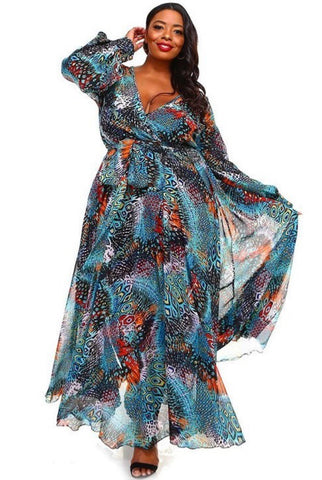 Tropical Breeze Chiffon Maxi