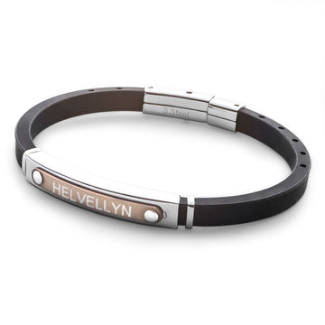 Blank Rubber and Stainless Steel Bracelet