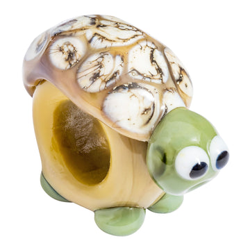 Tortoise Glass Charm