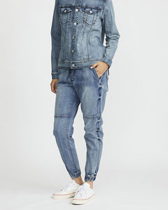 Denim Jogger - Stone Wash