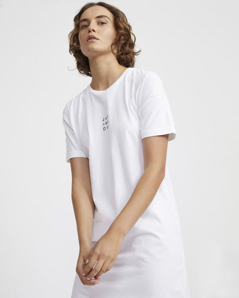 Ruby Tee Dress - White
