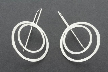 Double organic circle earring