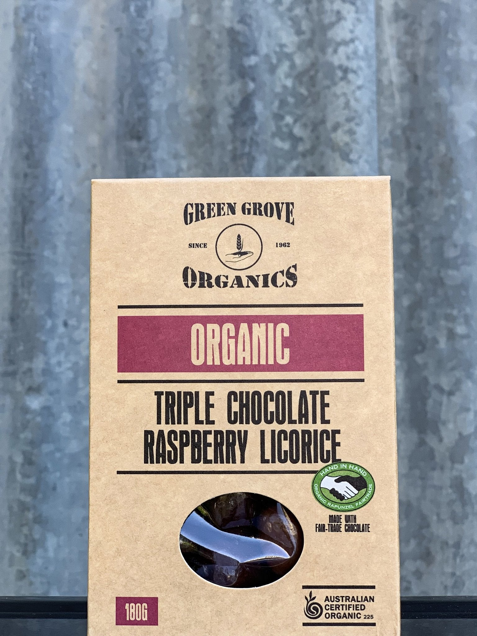 Triple Choc Raspberry Licorice 180g