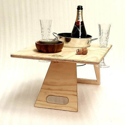 Chill Folding Wine Table Rectangular Natural