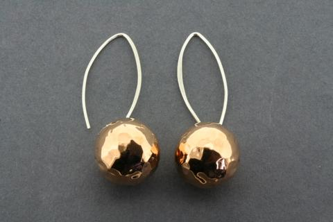 Copper ball earrings