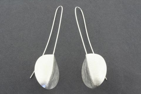 Long drop shield earring