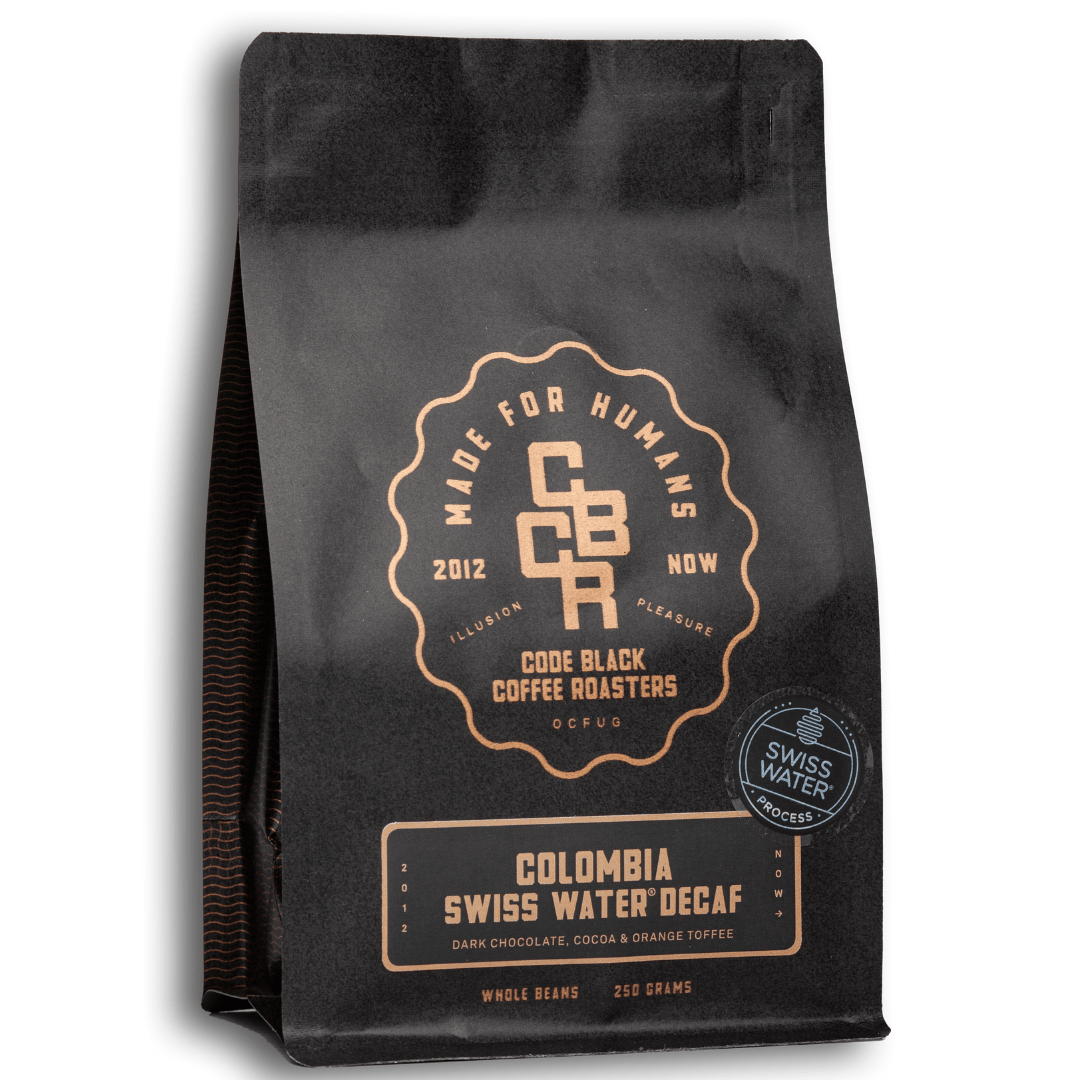 Code Black Coffee Decaf 250g / Whole Beans Colombia Swiss Water Decaf