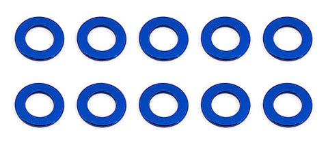 5.5 X .5mm Ball Stud Washer Blue Aluminum (10)