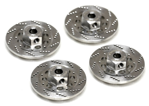 Stainless Steel Drilled Hex Brake Disk Set, for Rock Rey &